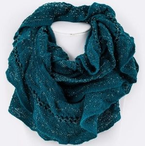 Teal Infinity Scarf NWT